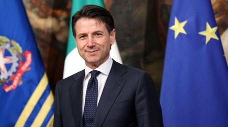 Italy's then-Prime Minister Giuseppe Conte at Palazzo Chigi