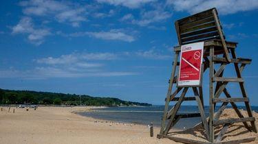 The beach at North Hempstead Beach Park in