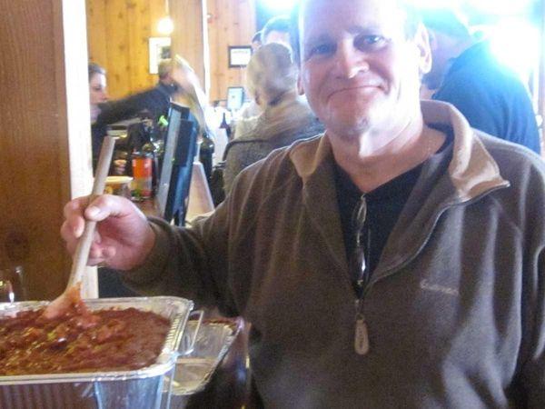 Phil Braddock, of Peconic, made his venison chili