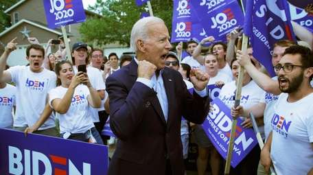 Former Vice President Joe Biden with his campaign