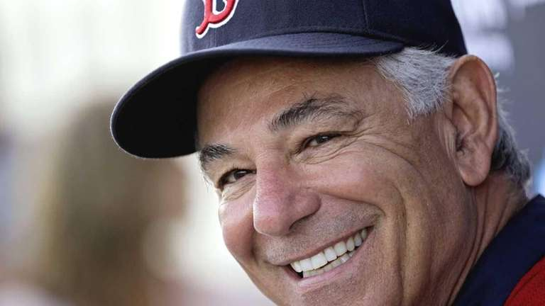 Boston Red Sox manager Bobby Valentine speaks during