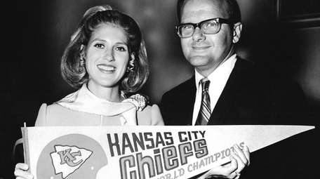 Kansas City Chiefs owners Lamar Hunt and Norma