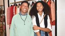 Russell Simmons and daughter Aoki Lee attend the