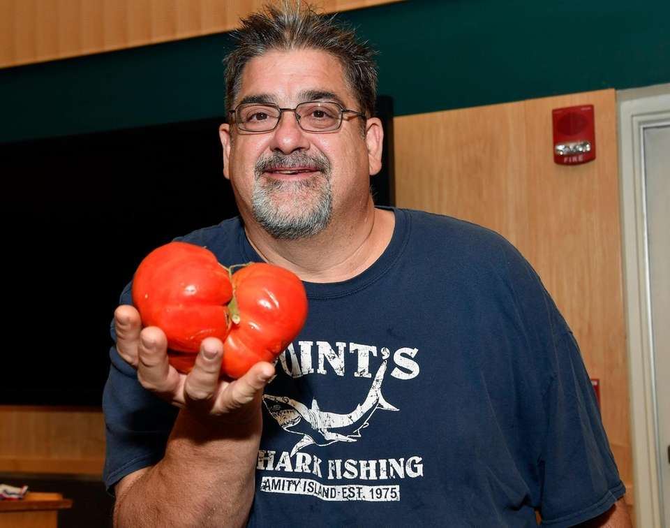 Craig White of Rockville Centre and his tomato