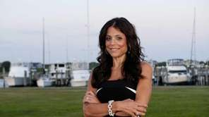 Bethenny Frankel poses outside The Montauk Yacht Club
