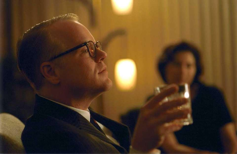 Philip Seymour Hoffman, portraying Truman Capote in the