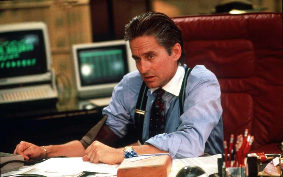 Michael Douglas, in a scene from the 1987