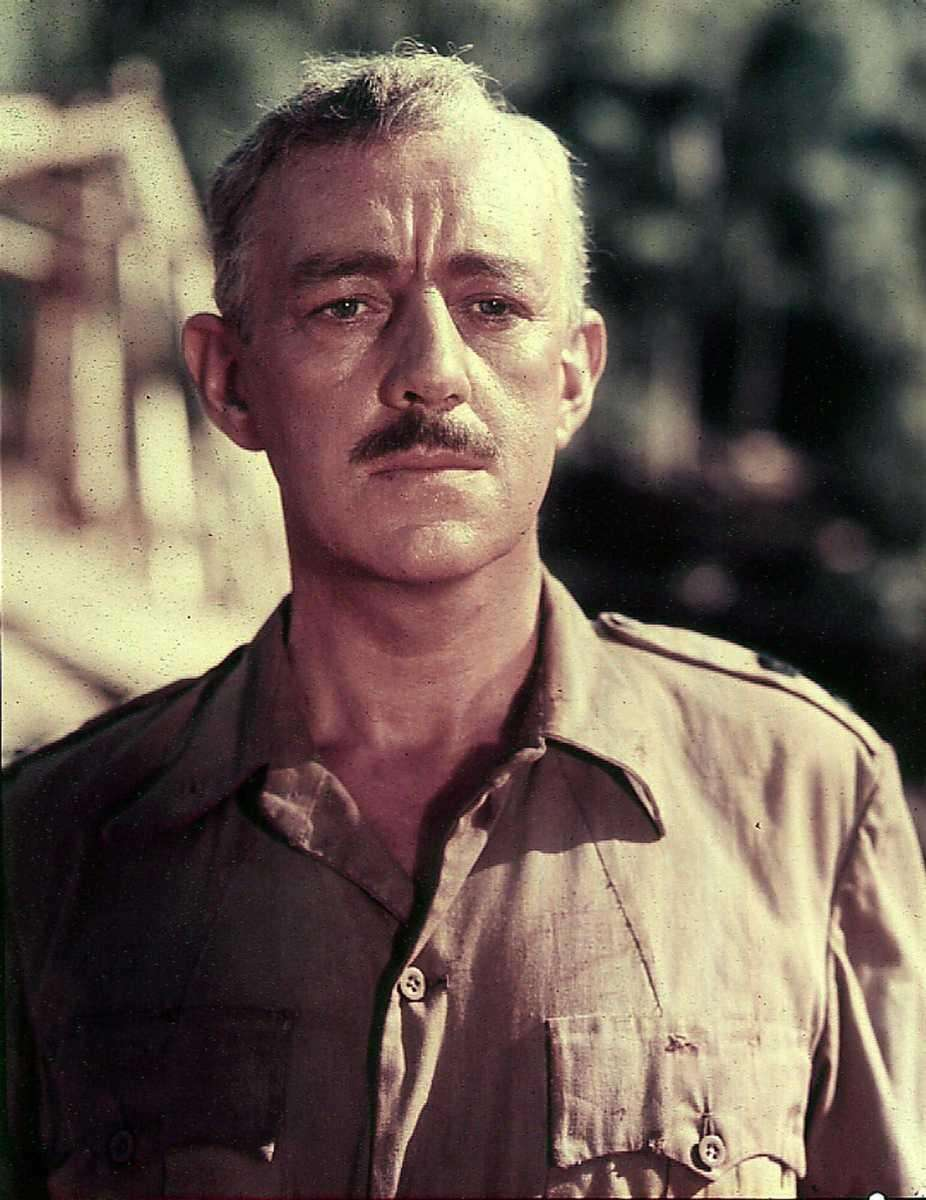 Sir Alec Guinness, in a scene from the