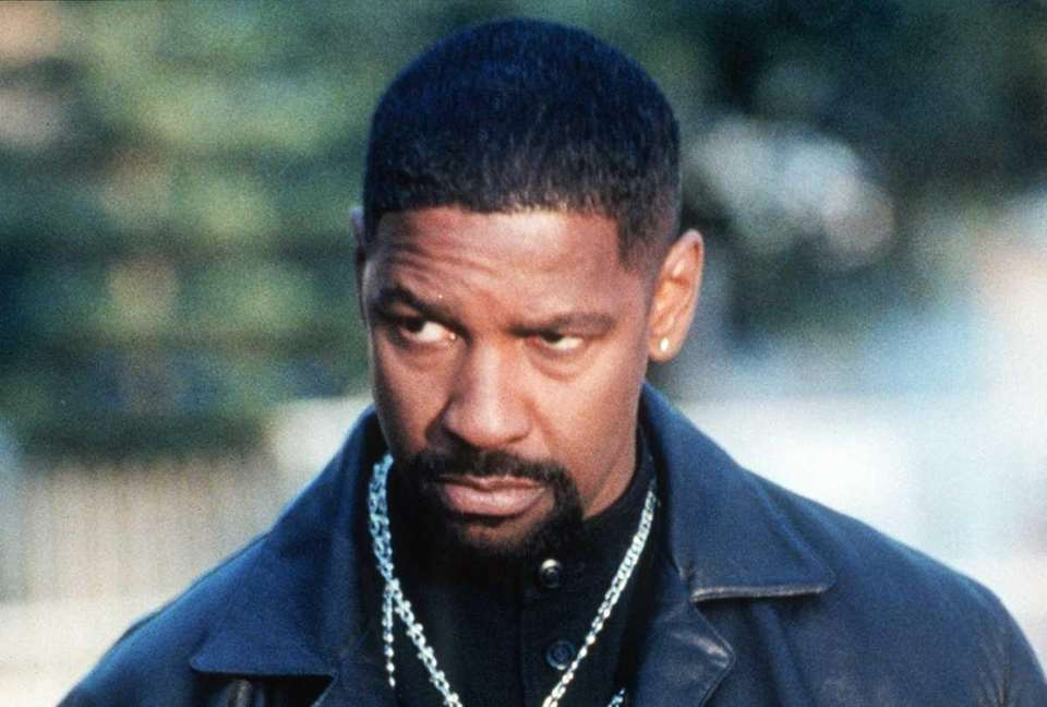 Actor Denzel Washington is seen in character in