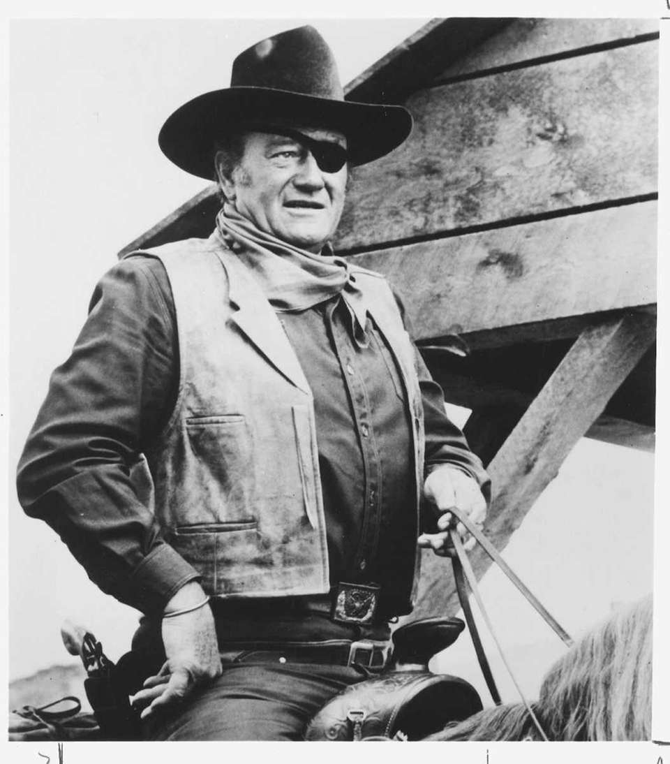 John Wayne, in a scene from the movie