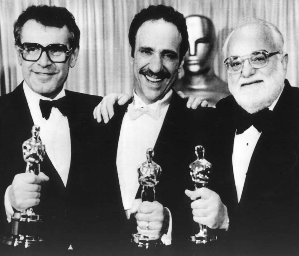 (L-R:) Milos Forman, F. Murray Abraham and Saul