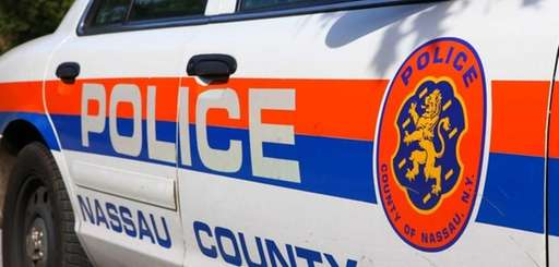 A Nassau County police car outside of the