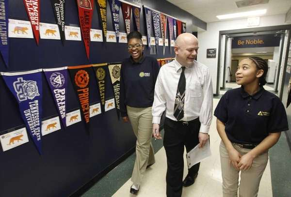 Noble Street College Prep principal William Olsen and