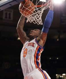 J.R. Smith #8 of the New York Knicks