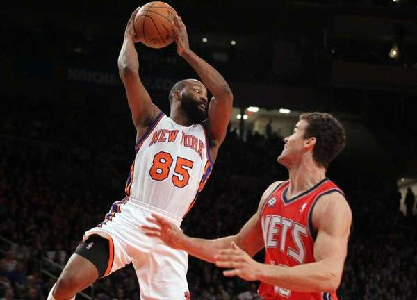 Baron Davis #85 of the New York Knicks
