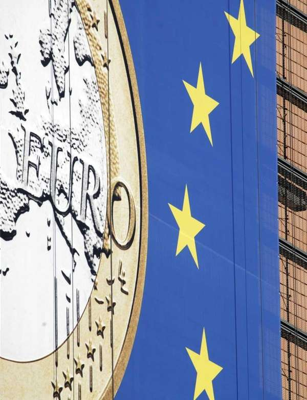 The euro sign is seen on the side
