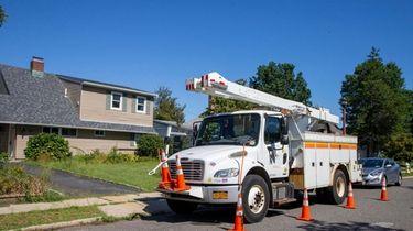 PSEG Long Island crews work Saturday on Lion
