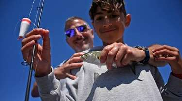 Jake Polito, 13, of East Patchogue, and his