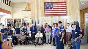 Suffolk County Executive Steve Bellone welcomed Col. Ed