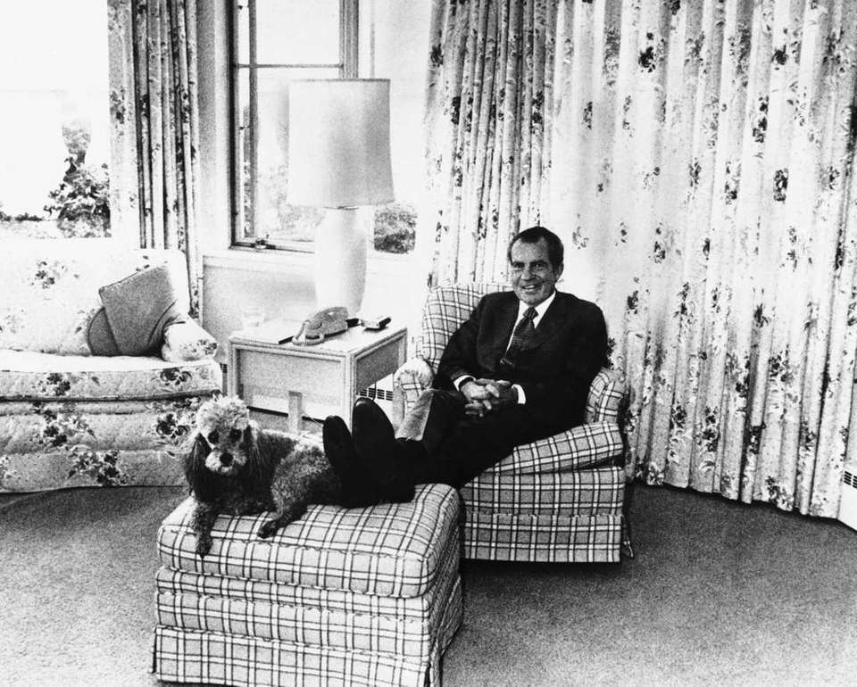 Former President Richard M. Nixon in White House