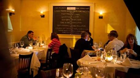 Some diners opt to dine in the quieter