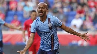 New York City FC forward Heber Araujo dos