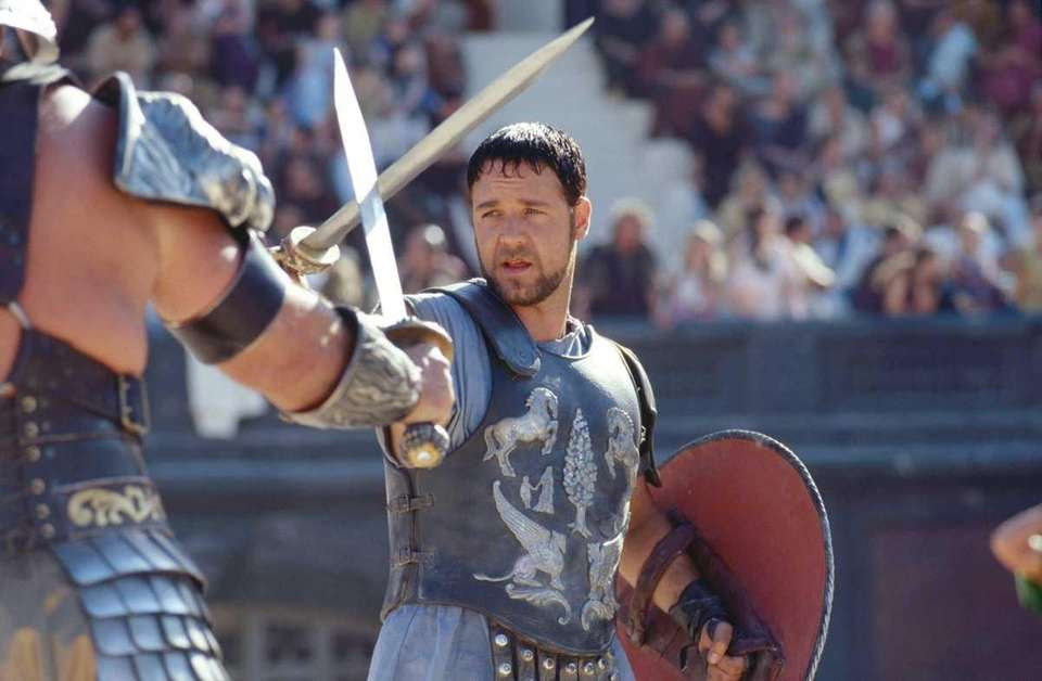 Russell Crowe, starring as a gladiator named