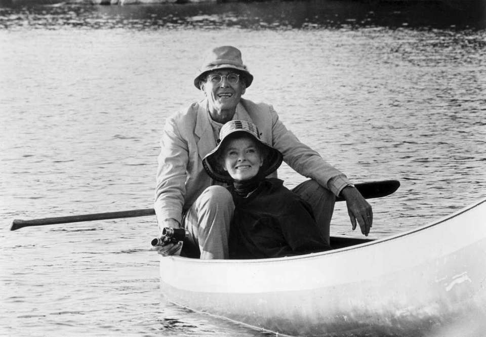 Henry Fonda and Katherine Hepburn, in a scene