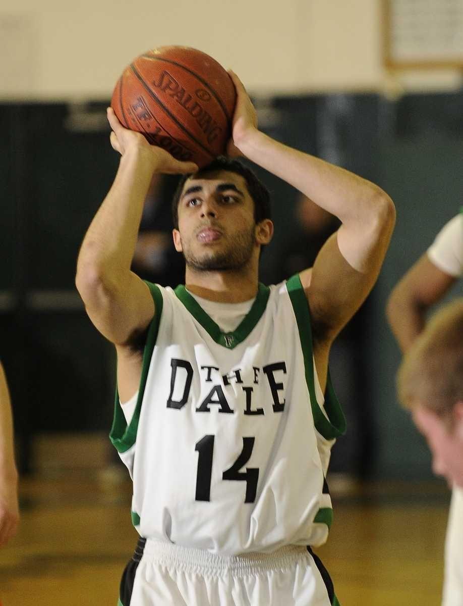 Farmingdale's Navreet Dhaliwal shoots a foul shot against