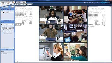 Photo shows a screen shot of Verint software,