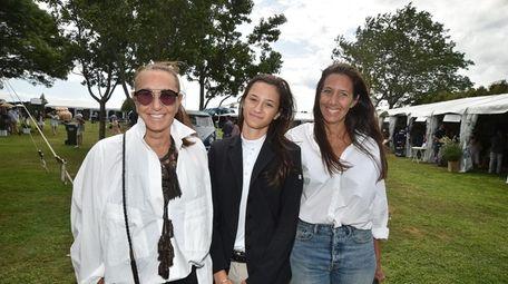 Fashion designer Donna Karan, left, granddaughter Stefania De