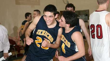 Jericho's Corey Miller and David Orr celebrate their
