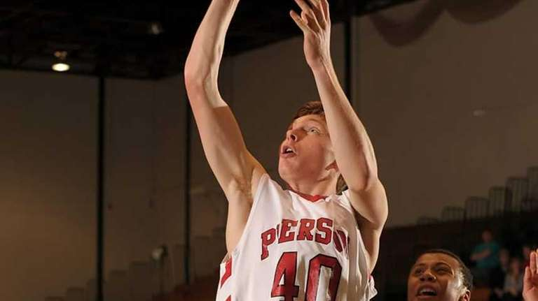 Pierson's Sam Miller goes up for the jumper
