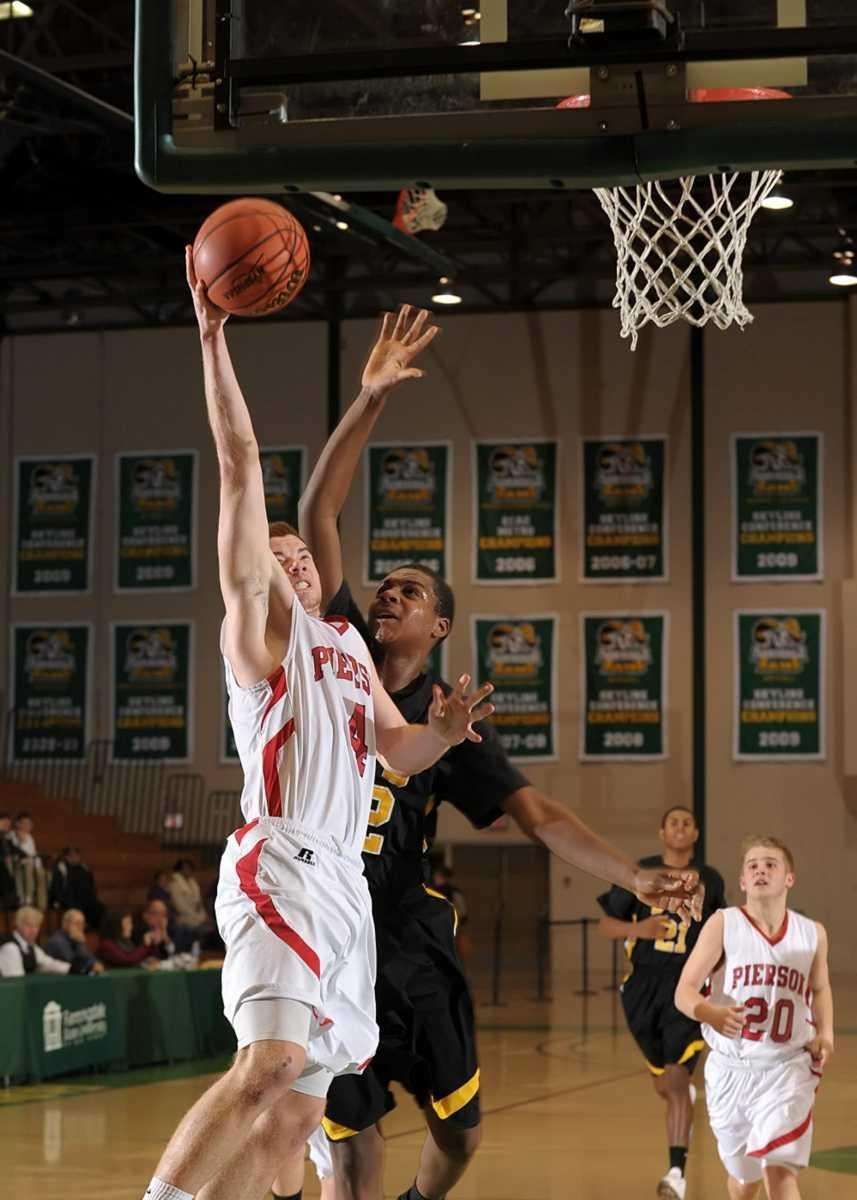Patrick Sloane (4) of Pierson with the shot