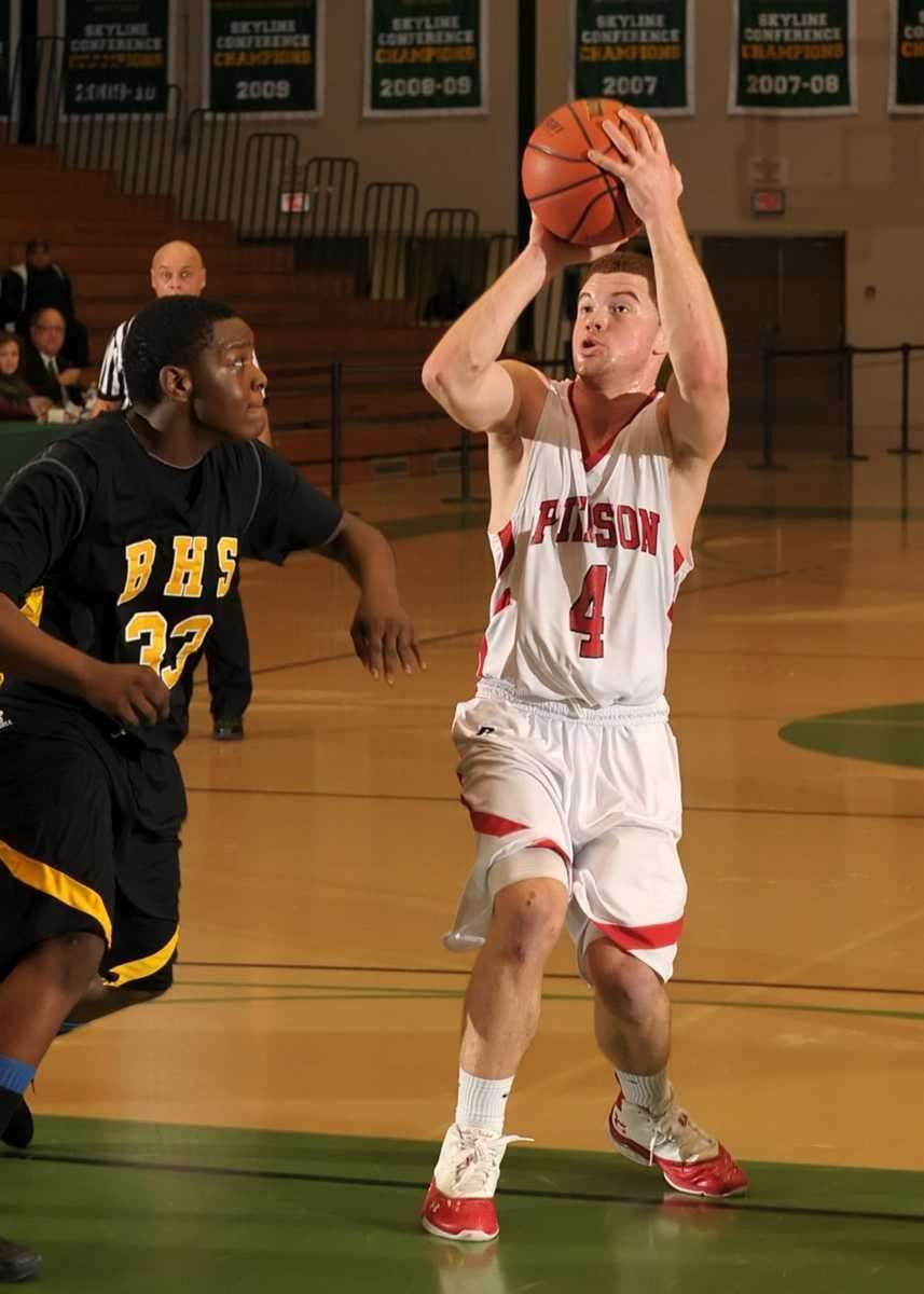 Pierson's Patrick Slone (4) shoots from the key