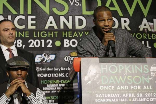 Bernard Hopkins, left, and Richard Schaefer of Golden