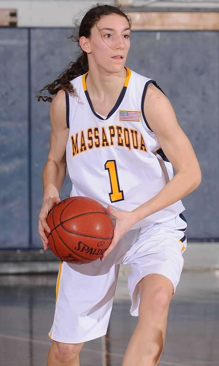 Massapequa's Morgan Roessler looks to pass in the