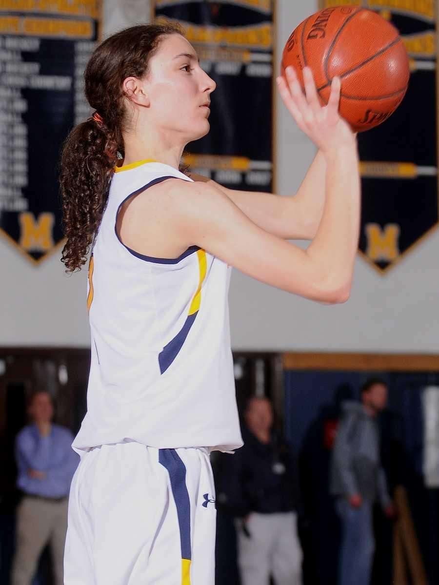 Massapequa's Morgan Roessler squares to the basket and