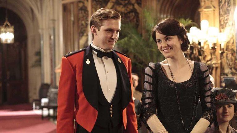 Dan Stevens stars as Matthew Crawley and Michelle