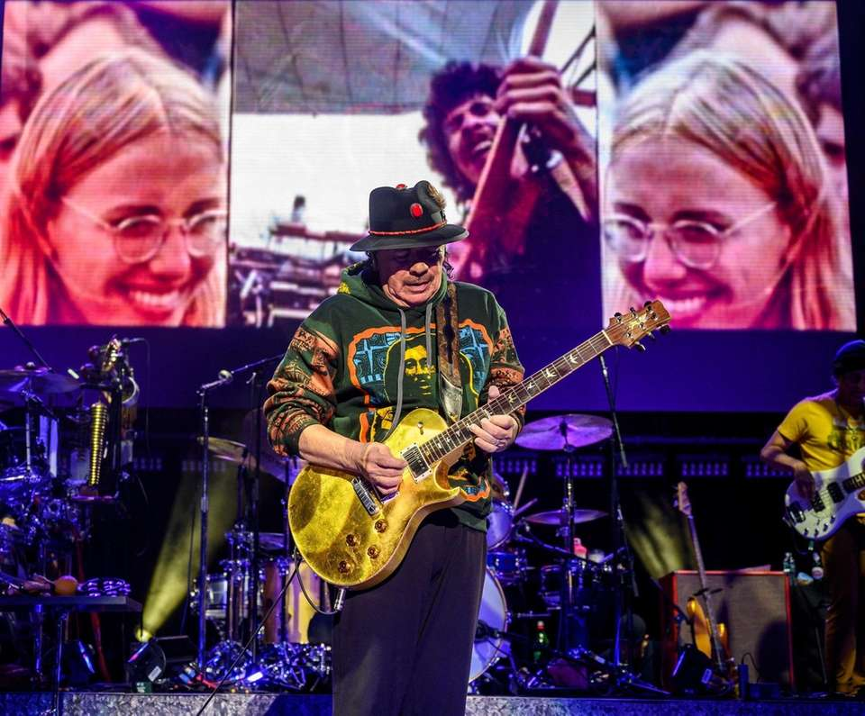 Carlos Santana performing at the Northwell Theater Jones