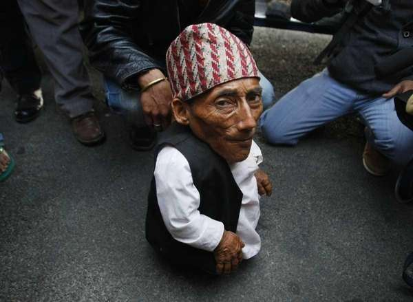 Nepalese Chandra Bahadur Dangi, 72, says he's only