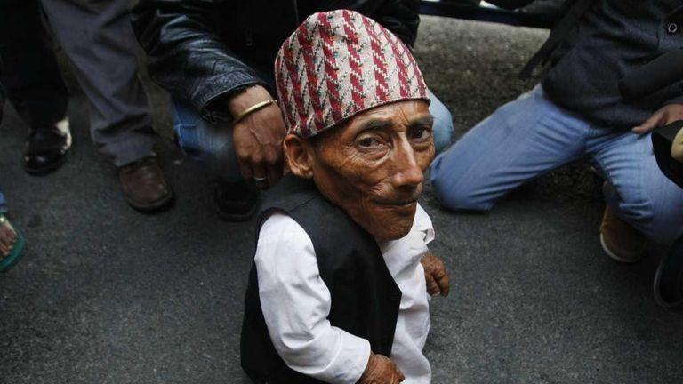 Nepalese Chandra Bahadur Dangi, 72, says he's only