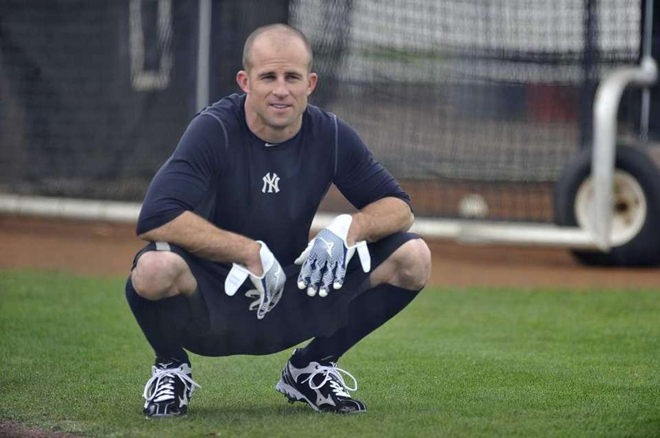 Yankees' outfielder Brett Gardner at spring training in