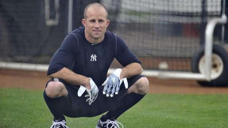 Yankees' outfielder Brett Gardner at spring training in