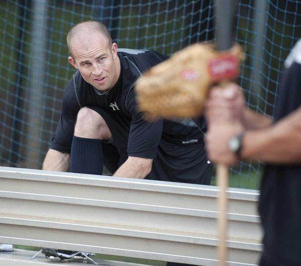 Yankees outfielder Brett Gardner at spring training in