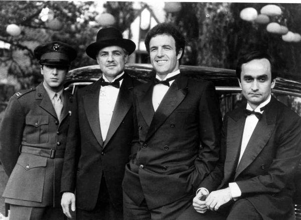 Al Pacino, Marlon Brando, James Caan and John