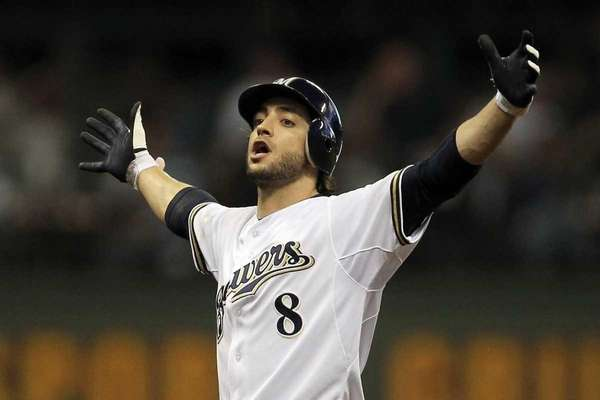 Milwaukee's Ryan Braun, the 2011 National League MVP,