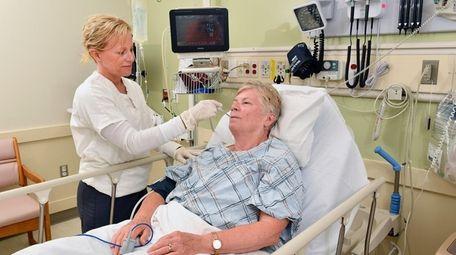 Northwell Health registered nurse Daria Frontera monitors a