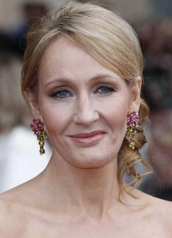British author J.K. Rowling arrives in Trafalgar Square,