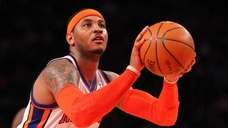 Carmelo Anthony #7 of the New York Knicks.